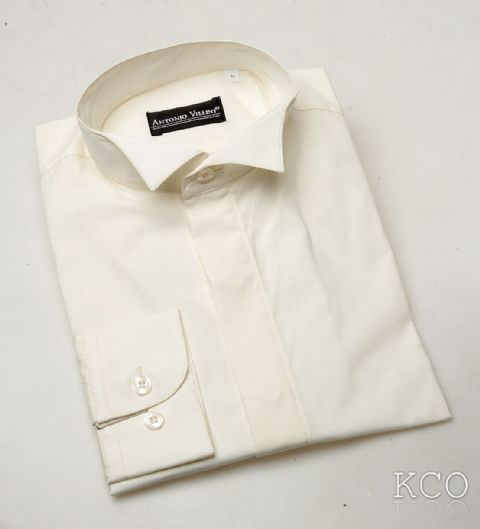 Wing Collar Shirt Ivory